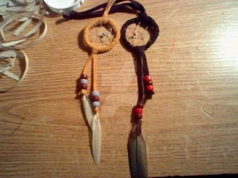 Another set of dreamcatchers by wolfgirl501