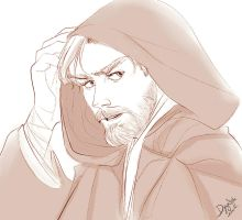 Obi Wan on a mission by boxOFjuice