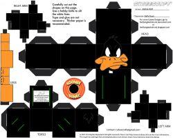 LT2: Daffy Duck Cubee by TheFlyingDachshund
