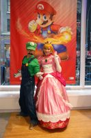 Princess Peach and Luigi Smash Bros. Cosplay by dollphinwing