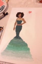WIP dress painting by Eriartist
