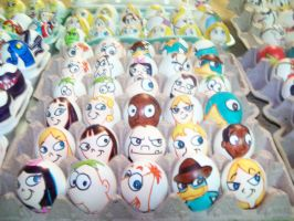 Easter eggs Phineas and Ferb by Rene-L