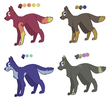 Wolf adopts [3/4 OPEN] by BubblyMint