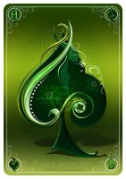 Ace of Spades GREEN by Lilyas
