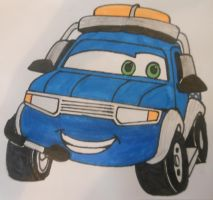 Roary the racing car: Plugger Pixar's Cars style by sgtjack2016