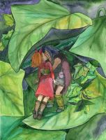 Under the leaf of ivy by the-Name-of-the-Cat