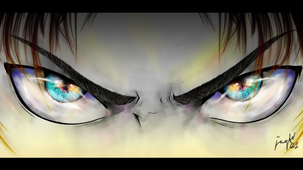 Eren Jeager Hatred Eyes by Jayto91