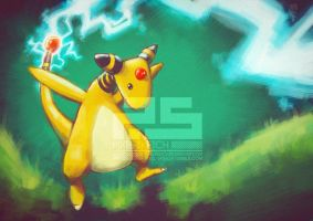 Pokemon: Ampharos by pixel-sketch