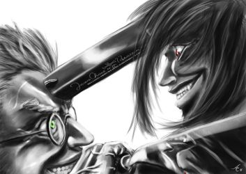 Alucard vs Anderson by alecyl