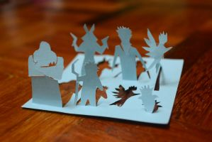 Rise of the Guardian Papercutting by Exoen144
