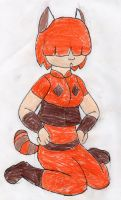Sorine Veu the Red panda Girl by RacketFewl