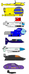 Treasure of the deep submarines and sea animals by RagingBullet