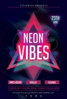 Neon Vibes Flyer by styleWish