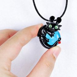 Toothless Pendant by HowManyDragons