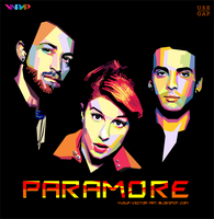 paramore on WPAP ( COLOURED ) by Yusuf-Graphicoholic