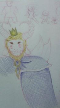 Asgore Sketch by Dannanariko