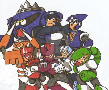 Robot Masters ATTACK!!!! by Baragon1314