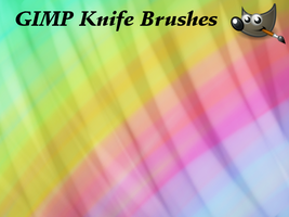 Eight GIMP Knife Brushes by PkGam