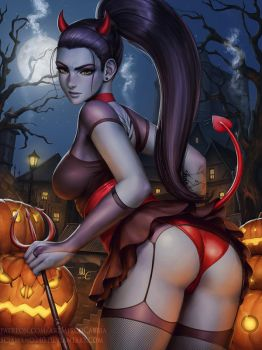 Widowmaker Devil Costume - Overwatch (3v) by Sciamano240