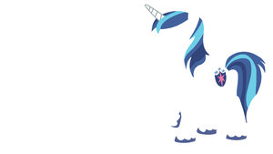 Shining Armor Minimalistic Wallpaper by Kitana-Coldfire