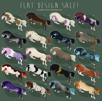 Adoptables - $7 FLAT DESIGN SALE - OPEN by Bright-Button