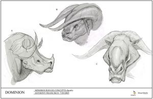 006 Minoros rough head concept by Ubermonster