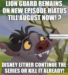 Now No New Lion Guard Till August!? by Madarao123