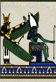 Isis and Ptah-Seker-Osiris by Writer-Colorer