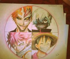 Favourite Anime Circle Drawing by chedil