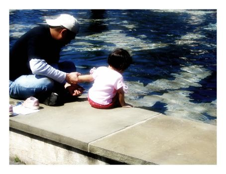 Father + Child . By the Water by imagemystique