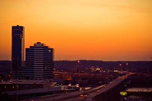 Grand Rapids At Sunset 3 by BreAnn