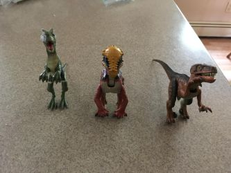 Some of the JP and TLWJP Dinosaurs I have 02 by CaptainEdwardTeague