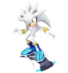 Silver The Hedgehog: Riders Outfit Render by Nibroc-Rock