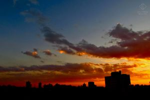 City and Sunset #4 by emy-hobbies
