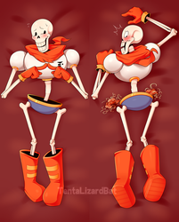 Papyrus Dakimakura (Available for Purchase) by VHSdraws