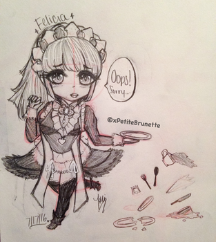 Clumsy Maid~ by PetiteBrunette