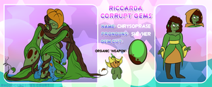 RC Corrupt Gem Chrysoprase by fluorescentnova