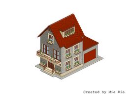 Pixel Art. Isometric. House 2 by MimiMiaART