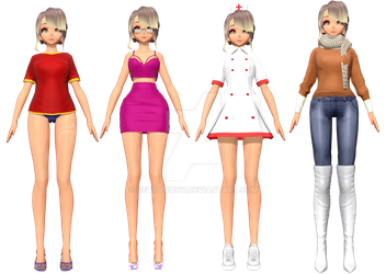 [MMD] Roxanne Sumer and Winter School and Civilian by GetSquiddy