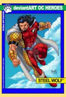 Steel Wolf 90s-style Trading Card by UrsaMagnus