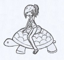 Turtle Friend -Sketch/Lined- by crazy525