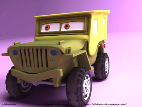 SARGE -:from CARS Movie:- 3D by AbhishekKr