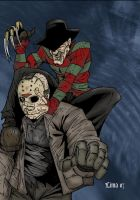 Freddy vs Jason by zombiezeroarthouse