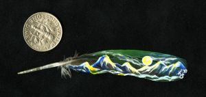 Mini Feather Painting by dittin03