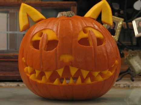 Cat Pumpkin '11 by Infernoferren