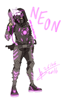 Overwatch OC - Neon by ABD-illustrates