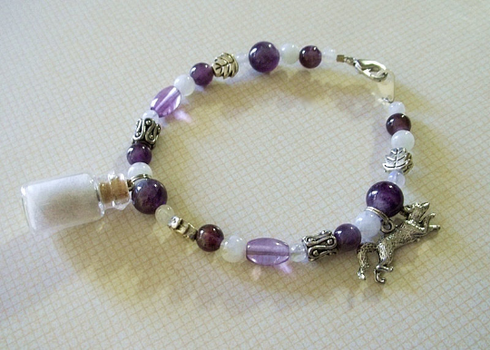 Arctic Fox Spirit Healing Charm Bracelet by DaybreaksDawn