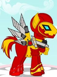 Iron Man Ponyfied by Brelia9794