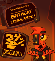 Birthday Commissions - 6/22/2017 by EVanimations
