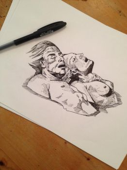 Odd Nerdrum - Quick Pen Study by PLUG3D